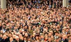 Crowds await the first race during Gold Cup day at the Cheltenham Festival