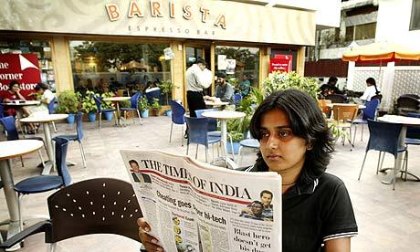 A Barista cafe in New Delhi, India