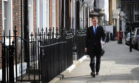 David Cameron on 23 March 2010.