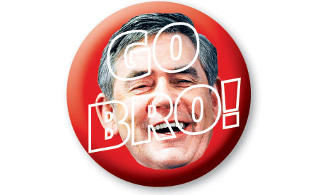 GoBro Gordon Brown badge
