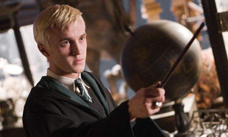 Tom Felton as Draco Malfoy in Harry Potter and the Half-Blood Prince.