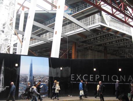 London: Shard building starts to rise by London Bridge station