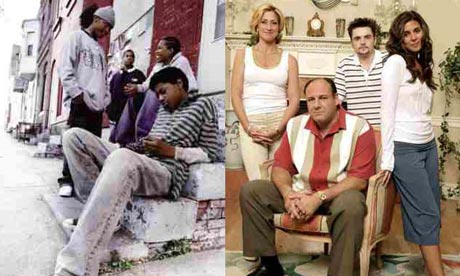 The Wire v The Sopranos. Photographs: HBO/Everett/Rex Features