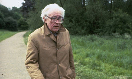 Michael Foot walking on Hamstead Heath in 1983.