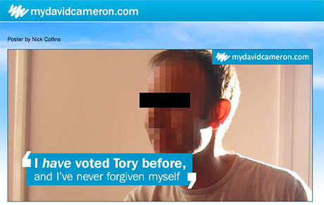 Parody of Conservative campaign poster