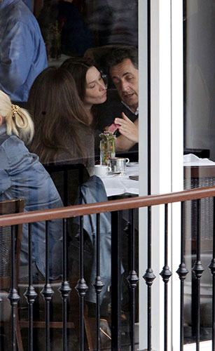 ... Nicholas Sarkozy at the Central Park Boathouse Restaurant in New York