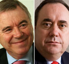 Ieuan Wyn Jones of Plaid Cymru and Alex Salmond of the Scottish National party