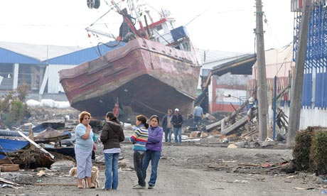 Talcahuano, Chile, after an aftershock on March 5