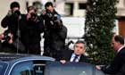 Gordon Brown leaving Chilcot inquiry