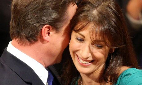 David Cameron with Samantha