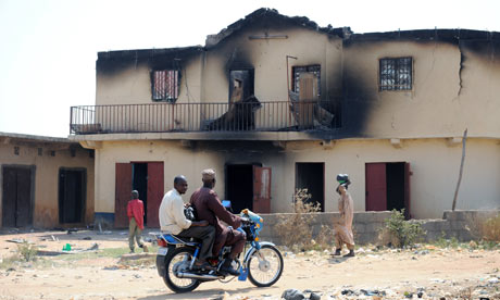 Nigeria burnt homes