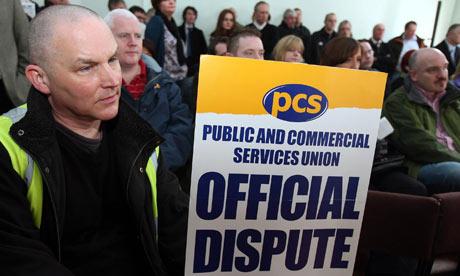 PCS union members at a strike rally in Belfast