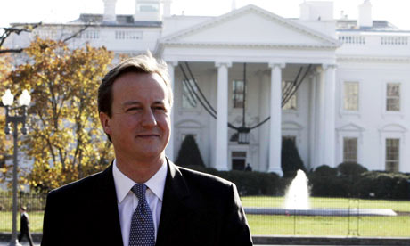David Cameron visits US