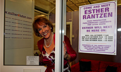 Esther Rantzen, who is standing as an independent for Luton South.