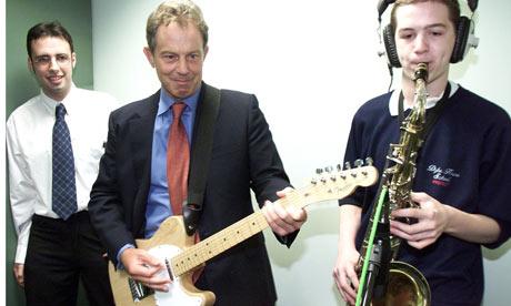 Tony Blair Guitar politics