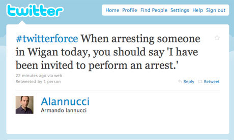 Screengrab of Ianucci's Twitterforce
