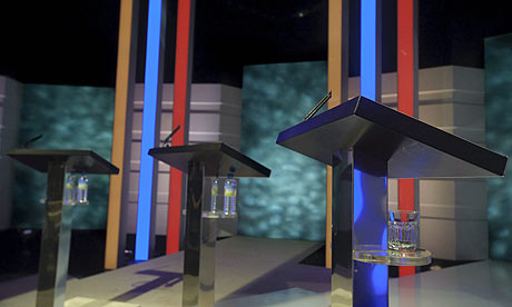 The set of the ITV1 party leaders' debate