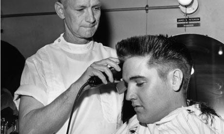 Elvis Presley gets crewcut