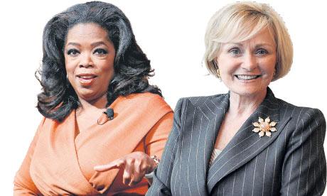Oprah Winfrey and Kitty Kelley