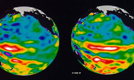 El Nino pattern in the Pacific