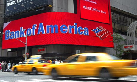 Bank of America branch in New York's Times Square
