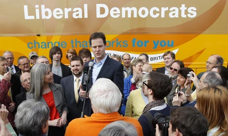 Nick Clegg, Liberal Democrat election campaign