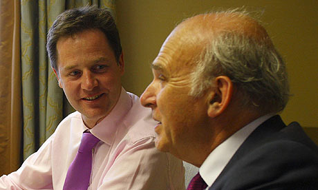 Vince Cable, Nick Clegg