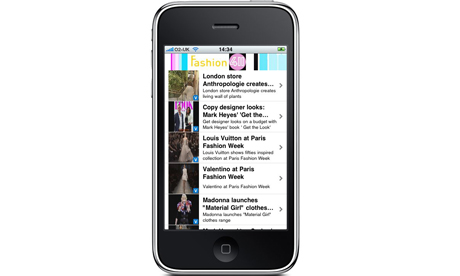 ITN's Fashion 411 iPhone app