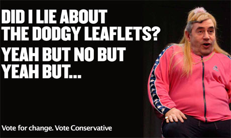 A new Conservative poster portraying Gordon Brown as Vicky Pollard the character from Little Britain