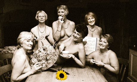 WI calendar girls. Members of the Rylstone and District Women's Institute, ...