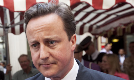 David Cameron said the size of the state had gotten too big