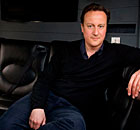 David Cameron on his battlebus