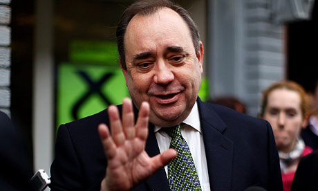 Alex Salmond on the campaign trail in Glasgow