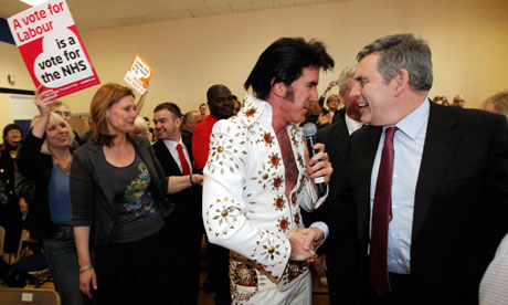 gordon brown Elvis impersonator