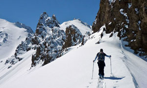 The Bamiyam valley offers challenging skiing