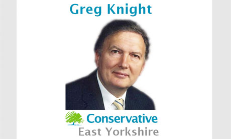Screengrab of Greg Knight campaign site