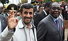 Mahmoud Ahmadinejad and Robert Mugabe