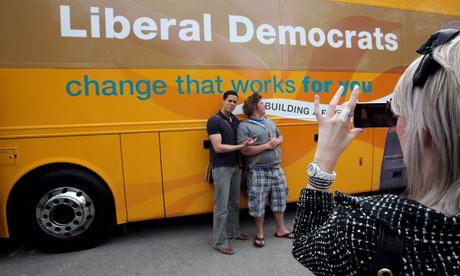 Liberal Democrats battlebus