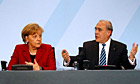 Angela Merkel and Angel Gurria