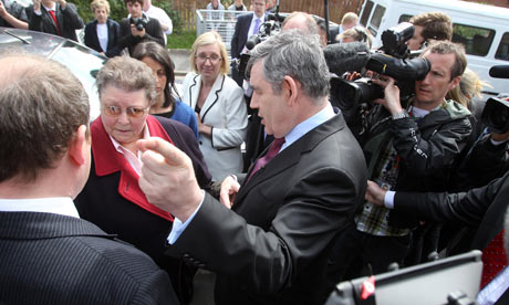 Gordon Brown with Gillian Duffy