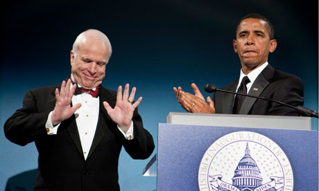 John McCain with Barack Obama in 2009