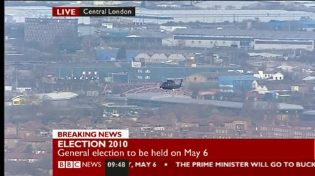 Queen's helicopter
