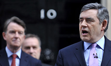 Gordon Brown outside 10 Downing Street