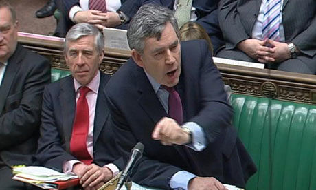 Gordon Brown at prime minister's questions on 7 April 2010.