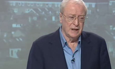 Michael Caine speaking in support of the Conservatives on 8 April 2010.