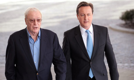 David Cameron and Michael Caine