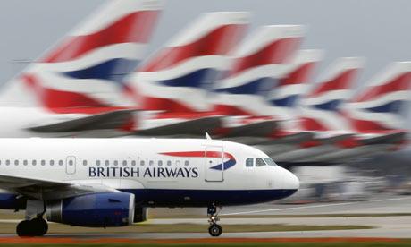 Plane  on British Airways Australia Office