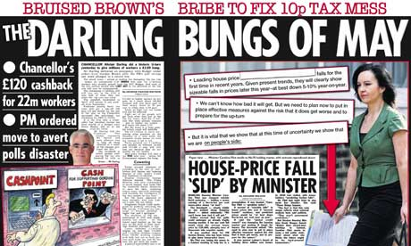 How the Sun reported Alistair Darling's mini-budget