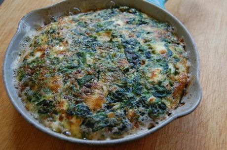 Herbed Spinach Frittata With Feta Recipes — Dishmaps