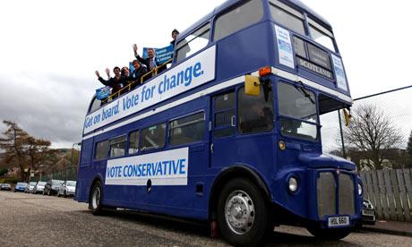 Conservative party bus Scotland
